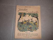 livre JARDIN D'ENFANTS partition piano 1955  BOSSAERT