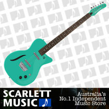 Danelectro Vintage Baritone Semi-Hollow Electric Guitar Aqua -12 Months Warranty