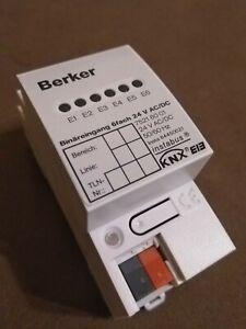 Berker 75216001 Instabus EIB KNX 6-channel binary input 24 V AC/DC