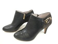 Vince Camuto Bootie Low Cut Stiletto Heel Brown Leather Side Zip Ankle Boot 9.5