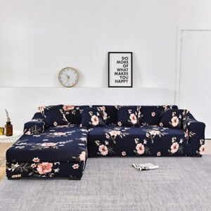 Flower Printing Stretch Elastic Sofa Covers for Living Room Sofa Set (2piece)
