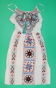 PLENTY by TRACY REESE Strappy Sleeveless Embroidered Dress Size: S