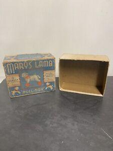 Vintage Hubley Marys Lamb Pull Toy 105 BOX ONLY Huboid