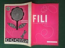 FILI n.38/1937 Ed. DOMUS Rivista Magazine DEI LAVORI D'AGO cucito ricamo moda