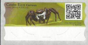 Costa Rica ATM Label Without Value, Araña Saltarina Salticidae, Spider, MNH 2020