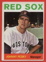1964 Topps #248 Johnny Pesky VG-VGEX MARKED WRINKLE Boston Red Sox FREE SHIPPING