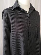 "Designer Van Heusen Regular Fit Wrinkle Free Shirt Black 15.5"" 34/35"