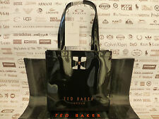 TED BAKER Ladies Tote Bag PETICON Black SMALL Logo Bow Icon Pvc Bags BNWT