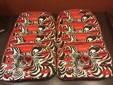 Lot of 10-Estee Lauder Quentin Jones Cosmetics Makeup Travel Bags-Black/Red