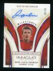 2020 Immaculate Soccer David Beckham Milestones Autograph /25 Manchester United