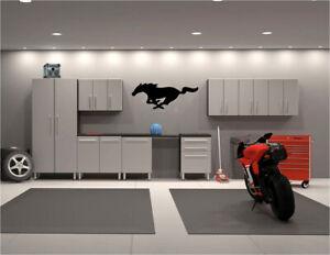 "Mustang logo Garage wall decals 19"" x 48"""