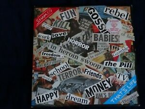 Sham 69 - That's Life 12'' Vinyl LP Record POLD 5010 with Poster