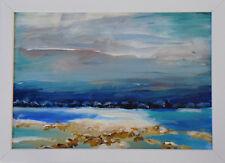 Landschaft Herbst Acrylbild Wandbild Büttenpapier Signiert 24 x 32 Gemälde