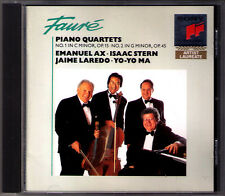 Emanuel AX Isaac STERN Yo-Yo MA: FAURE Piano Quartet No.1 2 Jaime LAREDO SONY CD