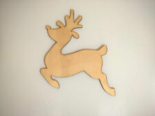 Large Wooden Reindeer 22cm Ready to Decorate Christmas Craft Shape Decoration