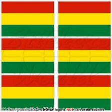 "BOLIVIA Bolivian Civil Flag 40mm (1,6"") Mobile Phone Mini Stickers Decals x6"