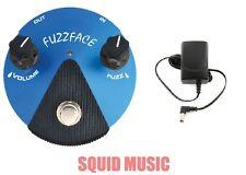 Dunlop Silicon Fuzz Face Mini Blue Guitar Pedal FFM1 ( FREE ADAPTER )