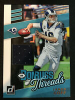 2019 Donruss THREADS LOS ANGELES RAMS Jared Goff JERSEY FOOTBALL CARD