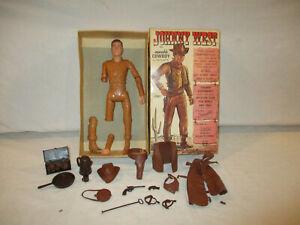 VINTAGE 1960s MARX JOHNNY WEST ACTION FIGURE W/ BOX & ACCESSORIES