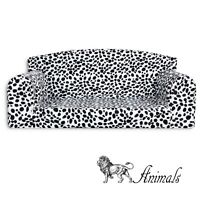 ANIMAL PRINTS - DALMATION PET SOFA. Dog & Cat Bunk. Cosy Settee. 3 Sizes Couch.