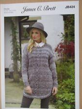 James C Brett - Ladies Chunky Sweater Knitting Pattern - JB424