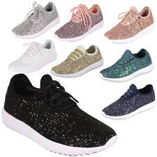 Women Glitter Boost Gym Trainer Fitness Sport Running Shoe Sneaker Ankle Booties