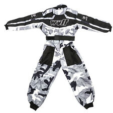 Wulfsport Enfants Tenue de Course Motocross MX Kart Quad Pit Dirt Bike Karting Noir Juni/s 5-6 Years