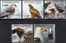 BIRDS OF PREY / African Eagles & Kites Bird Stamp Set (2012 Burundi)
