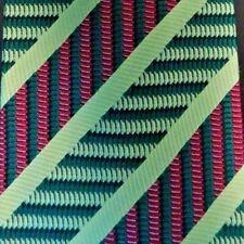 Amarillo Verde Rojo con Rayas Corbata de Seda 10.2cm Ancho 147cm Largo