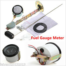 "Car 2"" 52mm Fuel Level Gauge Meter With Fuel Sensor E-1/2-F Pointer Universal"