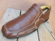 SANDRO MOSCOLONI Mens Dress Shoes Soft Brown Casual Comfort Driver Loafer Sz 10D