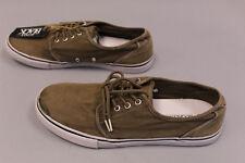 Buckle Black Men's Fender Lace Up Canvas Shoes AB4 Brown Size 10M