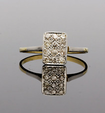EDWARDIAN RECTANGULAR DIAMOND CLUSTER RING