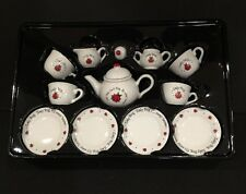 13 Piece Porcelain Lady Bug Tea Set Ages 8and Up By Schylling