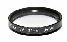 Vidrio óptico Kood UV Filtro 34 mm Hecha en Japón
