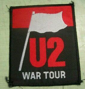 U2 War Tour Vintage 80s Sew-on Woven PATCH Bono