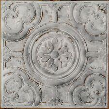 Distressed ceiling tiles Faux tin white gray decor wall panel PL50 10pcs/lot