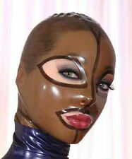 Sexy Latex Mask Rubber Unisex Hood Gummi 0.4mm for Party Wear Catsuit Unique
