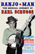 EARL SCRUGGS LESTER FLATT BANJO MAN COUNTRY MUSIC HALL OF FAME POSTER