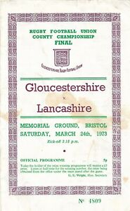 GLOUCESTERSHIRE v LANCASHIRE RUGBY UNION COUNTY CHAMPIONSHIP 24 MARCH 1973