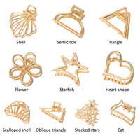 HOT Women Geometric Hair Claw Hair Holder Claw Hollow Hair Clips Hair Crab Clip