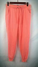 Rue 21 Women's Orange Joggers Size Small With Drawstrings Pockets Cotton New