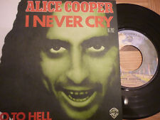 """ALICE COOPER 'I Never Cry' 1976 French 7"""" / 45 vinyl single"""