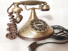 TAE Funktion altes antik Optik Telefon  Messing Wählscheibe Optik