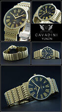 Yukon Complete Stainless Steel Unisex Watch from Home Cavadini Ip-Gold Plaque