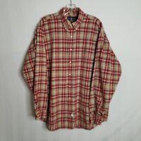 Polo Ralph Lauren The Big Shirt Button Down Plaid Shirt Mens Size Large - Z114