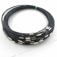 10x 160192 New Black Steel Memory Wire Cord Necklace Choker Free Shipping Fee