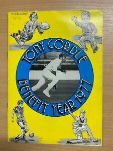 1977 TONY CORDLE CRICKET BENEFIT LARGE ILLUSTRATED BROCHURE