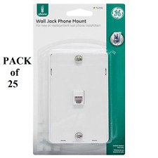 25 White Telephone 4-Wire Phone Jacks Wall Plate