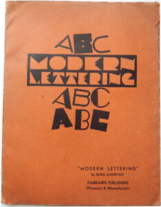1944 MODERN LETTERING BORIS ANDREYEFF RUSSIAN EMIGRE USA ART BOOK CALLIGRAPHY